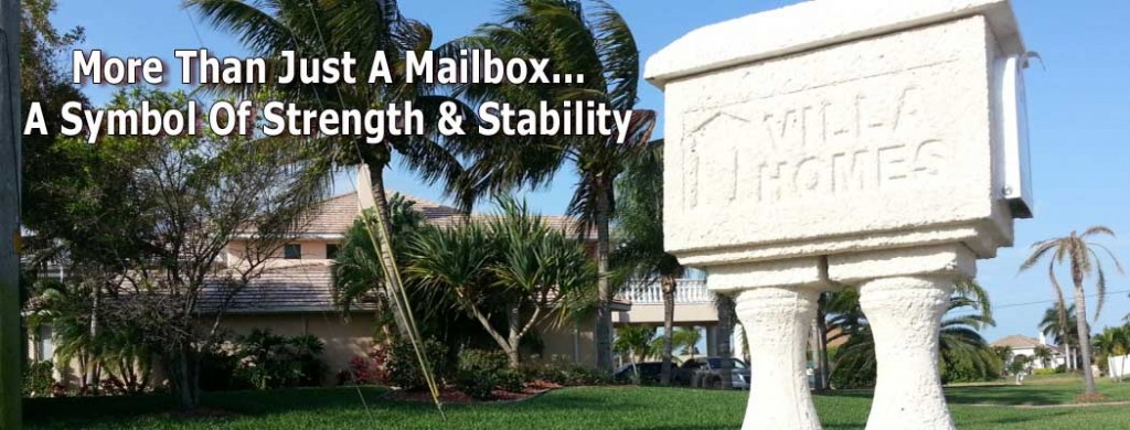 Cape Coral New Home Builder Villa Homes Mailbox